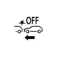 (Ovisno o vozilu) Pokazivač kvara ili nedostupnosti funkcije aktivnog naglog kočenja