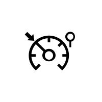 Kontrolna svjetla ograničivača i regulatora brzine.